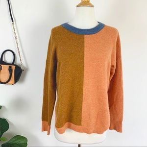 New Madewell color block sweater